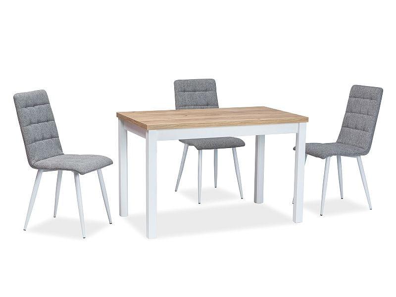 Krzesło Otto Szarebiałe Tkanina
